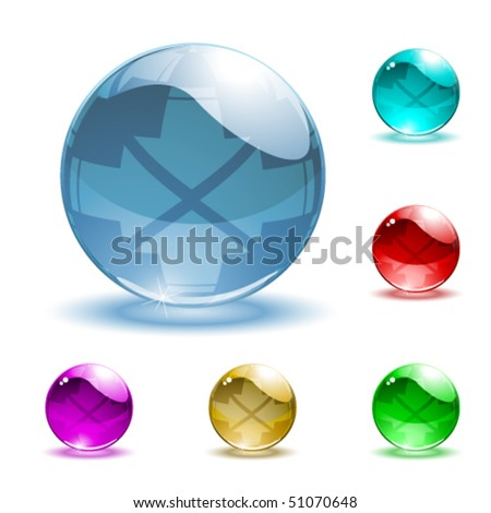 Vector shiny spheres
