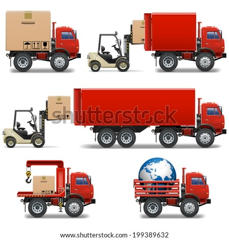 Vector Shipment Icons Set 34 - stock vector
