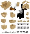 Vector Shipping Box - stock photo