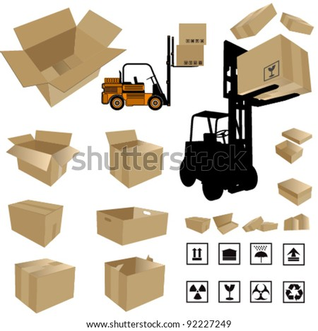 Vector Shipping Box - stock vector