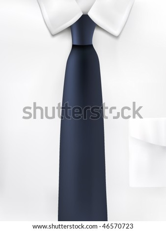 vector shirt and tie illustration - stock vector