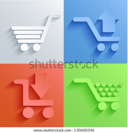 Vector shooping icon set backgrounds. Eps10 - stock vector