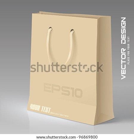 Vector Shopping Bag - stock vector