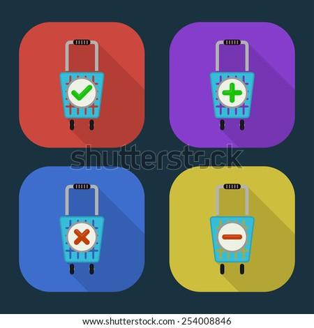Vector shopping basket icon. part 4 - stock vector