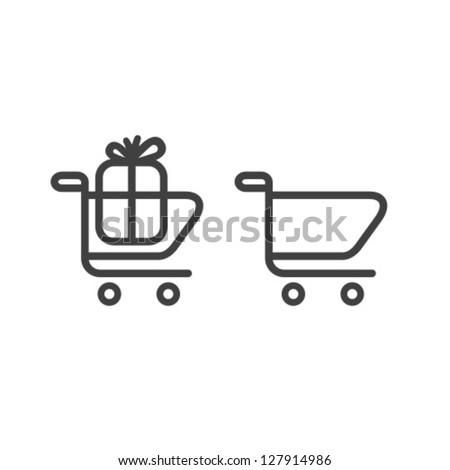 Vector Shopping Cart Icon Set - stock vector