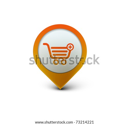 vector shopping web icon design element. - stock vector