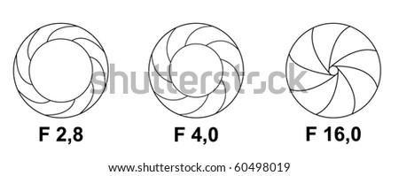 vector shutter aperture - stock vector