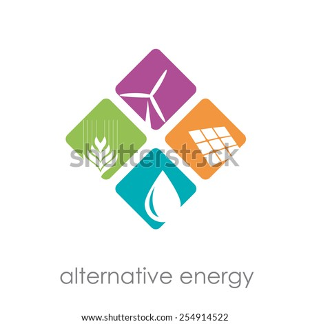 Vector sign alternative energy
