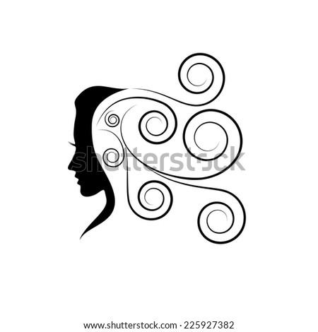 Vector sign beauty hair - stock vector