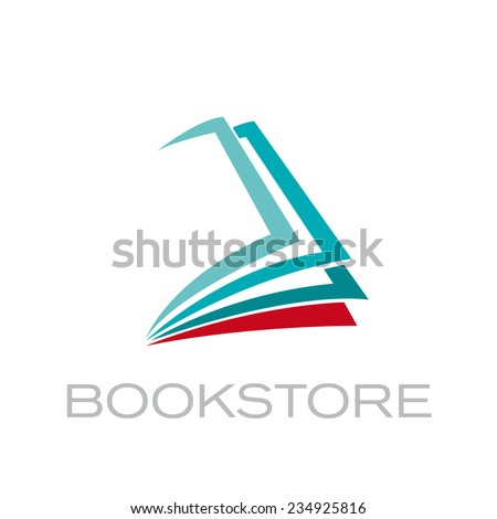 Vector sign book - stock vector