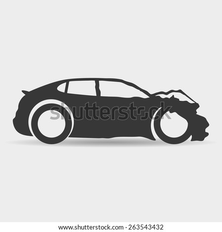 Vector sign. Car. - stock vector