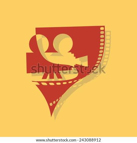 Vector sign cinema and Visual Arts - stock vector
