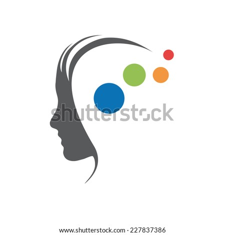 Vector sign concept of psychologist, analyst or scientist - stock vector
