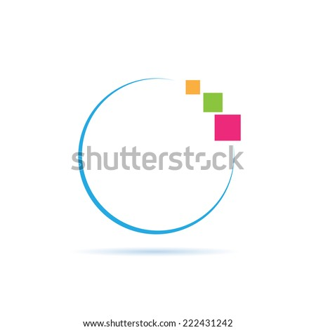 Vector sign Digital World - stock vector