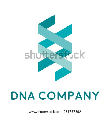 Vector sign DNA and genetics - stock vector