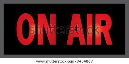 vector sign for ON AIR
