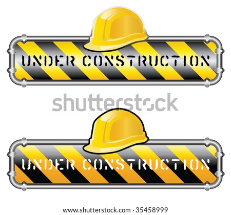 vector sign for site under construction - stock vector