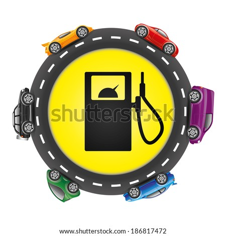 Vector sign. Gas station. - stock vector