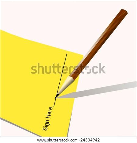 Vector Sign Here - stock vector