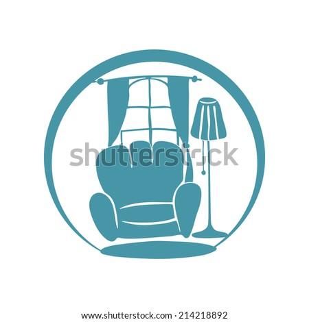 Vector sign. Interior. - stock vector