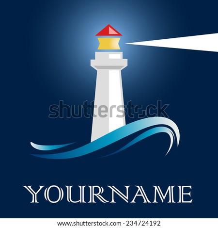 Vector sign lighthouse - stock vector