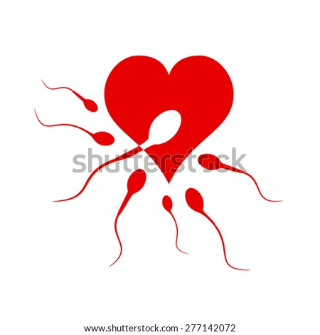 Vector sign  love and procreation - stock vector