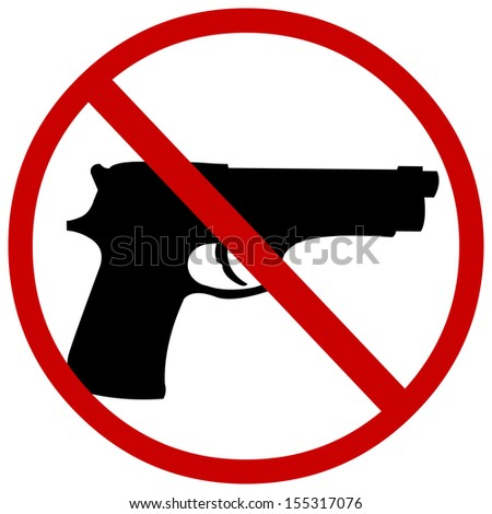 vector sign: no guns - stock vector