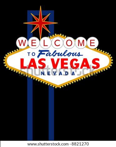 vector sign of Las Vegas - stock vector