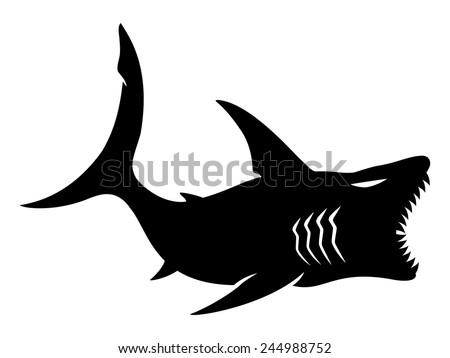 Vector sign. Shark. - stock vector