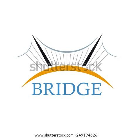 Vector sign The Bridge - stock vector