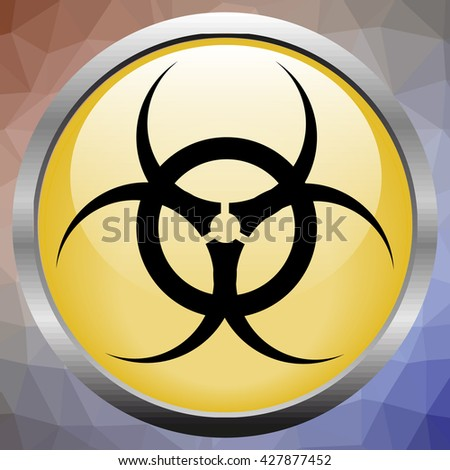 Vector sign toxic. Sign toxic isolated. Symbol Warning toxic. Sign nuclear. Radiation sign. - stock vector