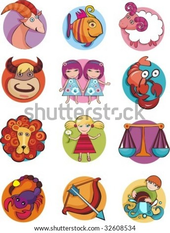 vector signs of the zodiac - stock vector