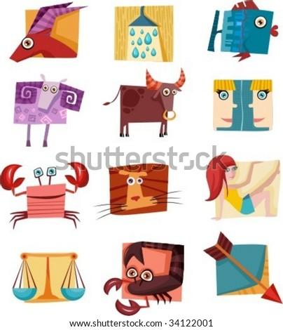 vector signs of zodiac - stock vector