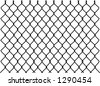 vector silhouette graphic depicting a chain link fence - stock vector