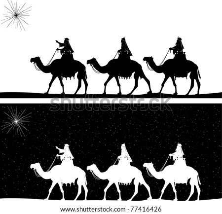 Free Printable Wise Men Silhouette | New Calendar Template Site