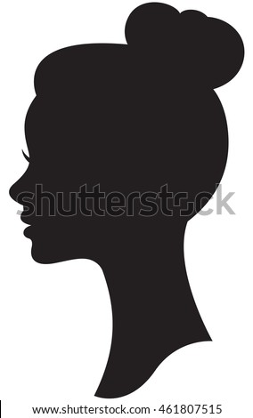 Woman Face Profile Silhouette