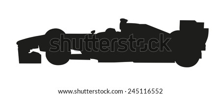 Vector silhouette of a racing car. Formula - stock vector