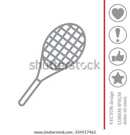 Vector silhouette of a tennis racket