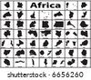 Vector silhouette of African countries - stock vector