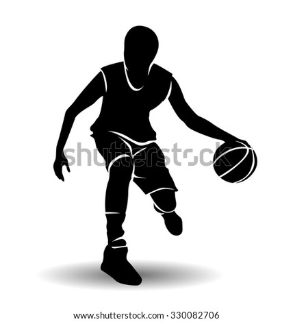 Basketball player silhouette dunk png
