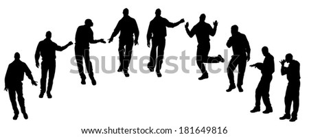 Vector silhouette of men who are homosexual.