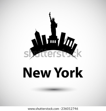 Vector silhouette of of New York