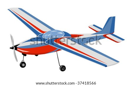 vector silhouette of the plane on white background - stock vector