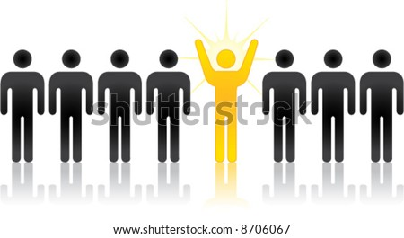 vector Silhouette people, an individual, innovator, or entrepreneur - stock vector