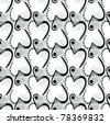 Vector silhouette the black white and gray heart  seamless pattern. Black white gray valentine's day background.  See similar in my portfolio - stock vector