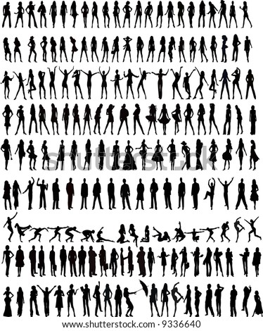 Vector silhouettes - stock vector