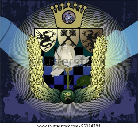 Vector silhouettes, heraldic 61 ,vector illustration - stock vector
