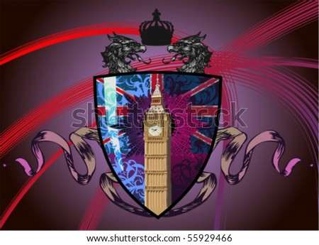 Vector silhouettes, heraldic 62, vector silhouettes - stock vector