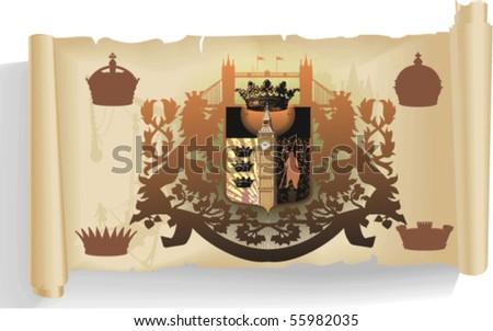 Vector silhouettes, heraldic 63, vector silhouettes - stock vector
