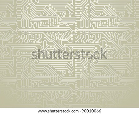 Vector silver circuit board pattern background - stock vector
